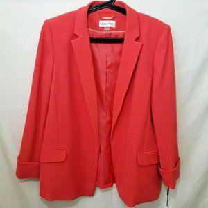 Calvin Klein Pink Blazer Jacket Size 16